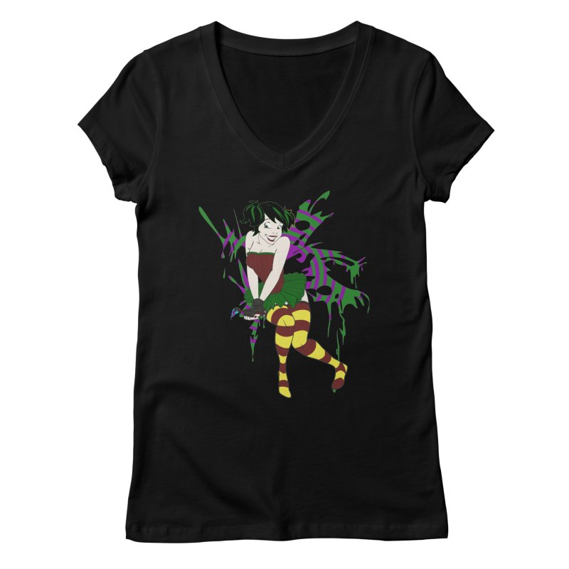Artsy Fairy Women's V-Neck by Inspired Human Artist Shop