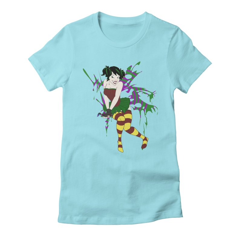 Artsy Fairy Women's Fitted T-Shirt by Inspired Human Artist Shop