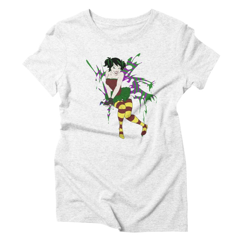 Artsy Fairy Women's Triblend T-shirt by Inspired Human Artist Shop