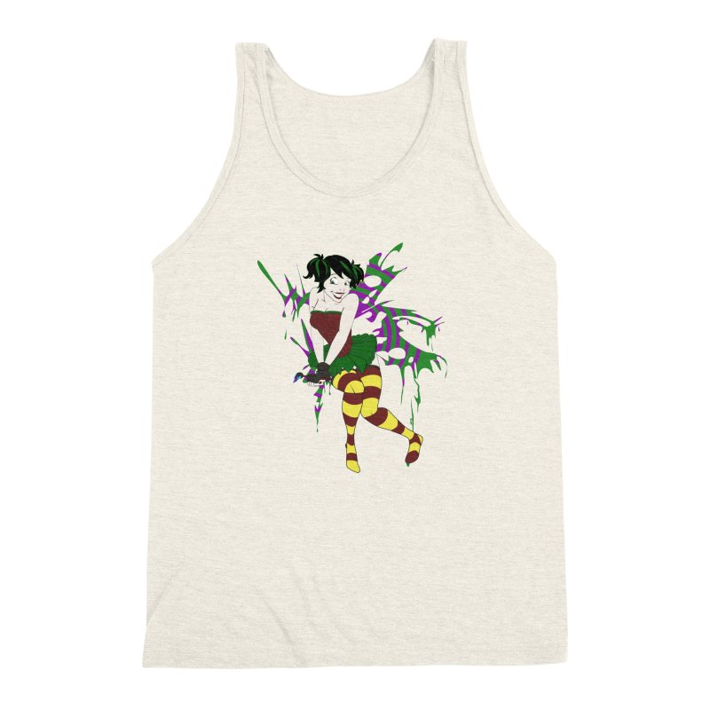 Artsy Fairy Men's Triblend Tank by Inspired Human Artist Shop