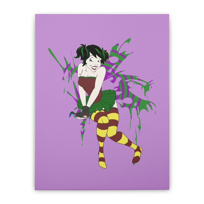 Artsy Fairy Home Stretched Canvas by Inspired Human Artist Shop