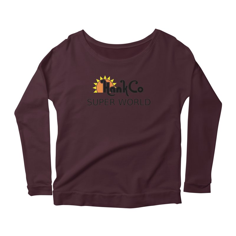 Hank Co. Women's Longsleeve Scoopneck  by Inspired Human Artist Shop