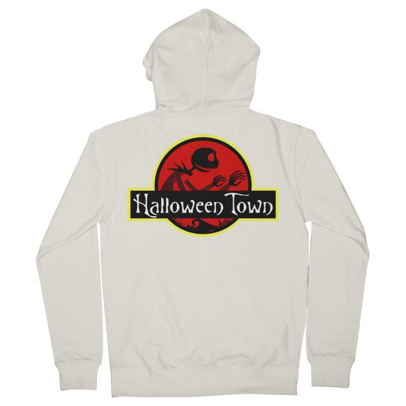 Welcome to Halloween Town Men's Zip-Up Hoody by Inspired Human Artist Shop