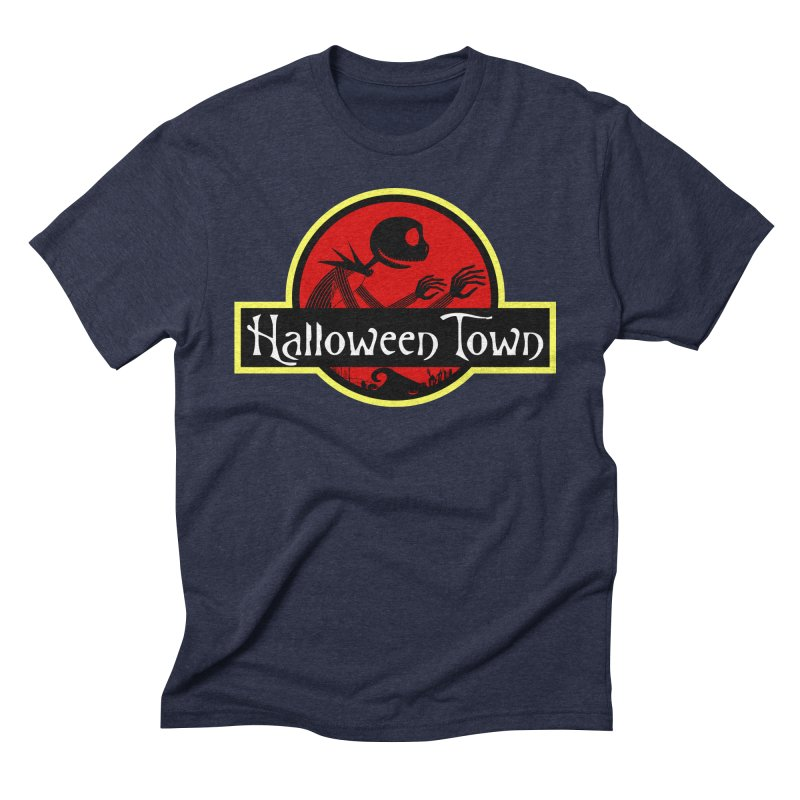 Welcome to Halloween Town Men's Triblend T-Shirt by Inspired Human Artist Shop