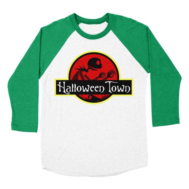 Welcome to Halloween Town Women's Baseball Triblend T-Shirt by Inspired Human Artist Shop