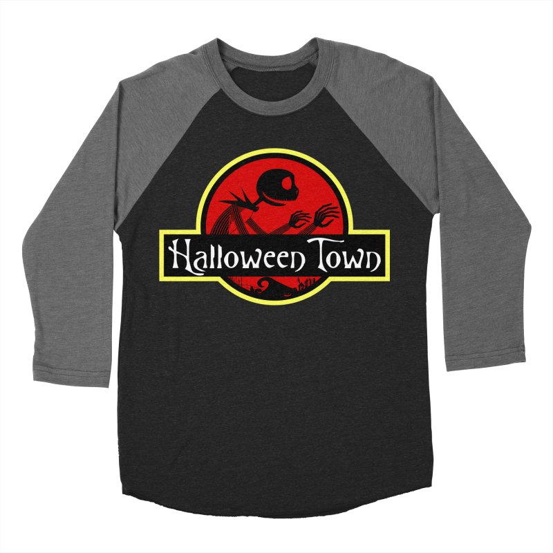 Welcome to Halloween Town Men's Baseball Triblend T-Shirt by Inspired Human Artist Shop