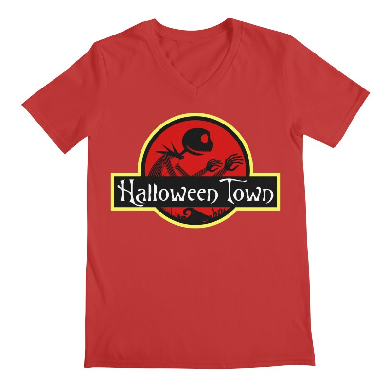 Welcome to Halloween Town Men's V-Neck by Inspired Human Artist Shop