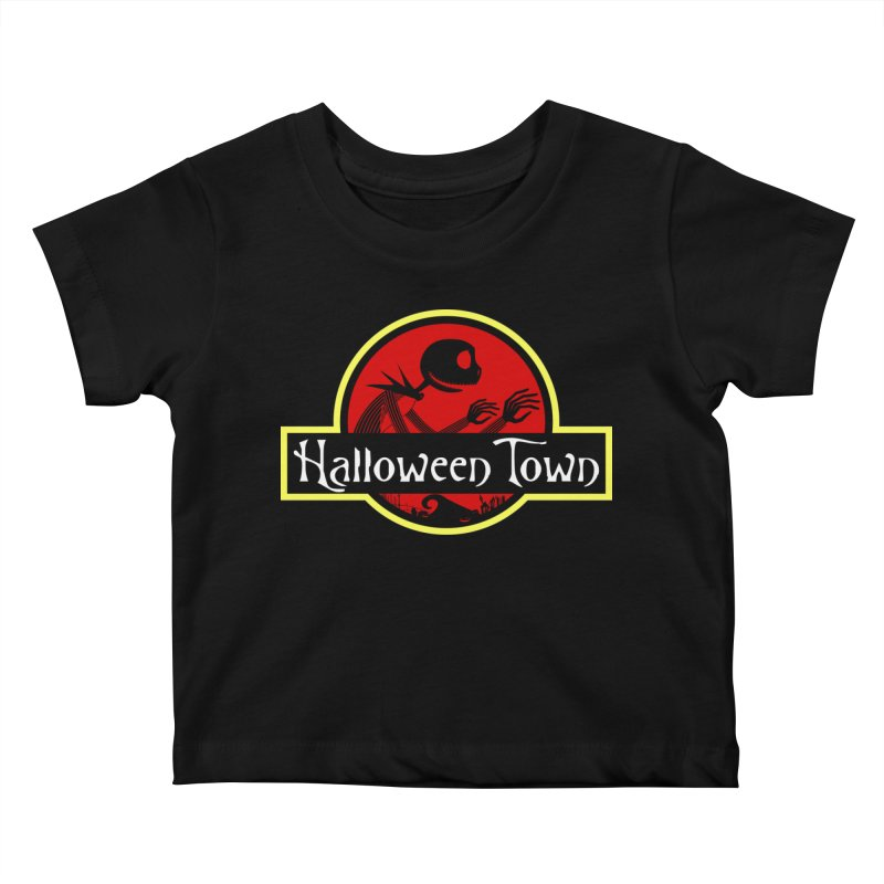 Welcome to Halloween Town Kids Baby T-Shirt by Inspired Human Artist Shop