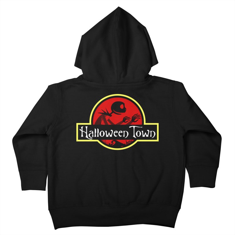 Welcome to Halloween Town Kids Toddler Zip-Up Hoody by Inspired Human Artist Shop