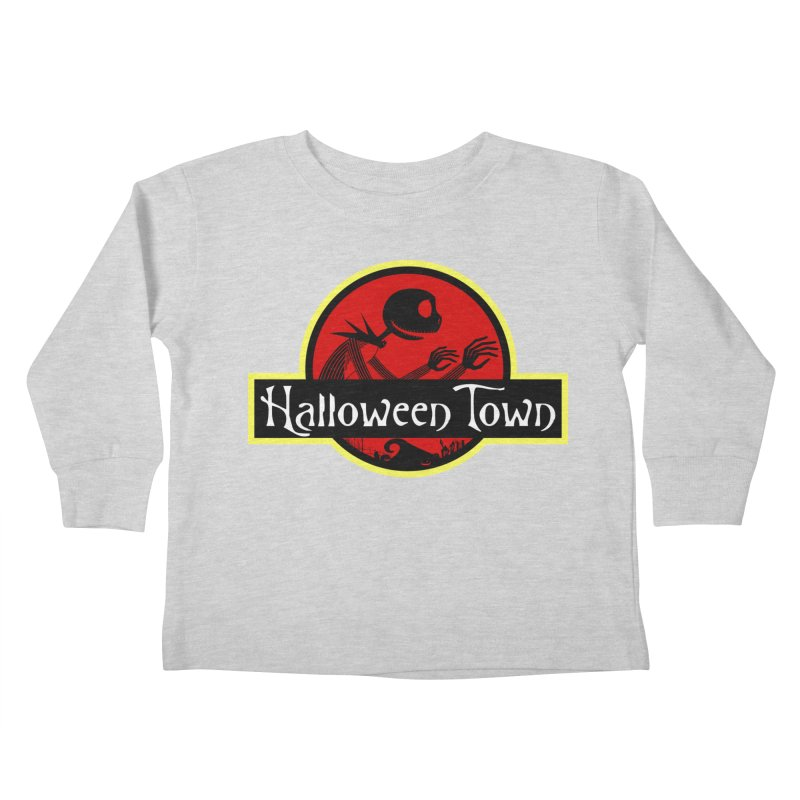 Welcome to Halloween Town Kids Toddler Longsleeve T-Shirt by Inspired Human Artist Shop