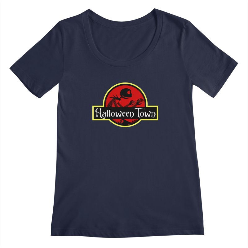 Welcome to Halloween Town Women's Scoopneck by Inspired Human Artist Shop