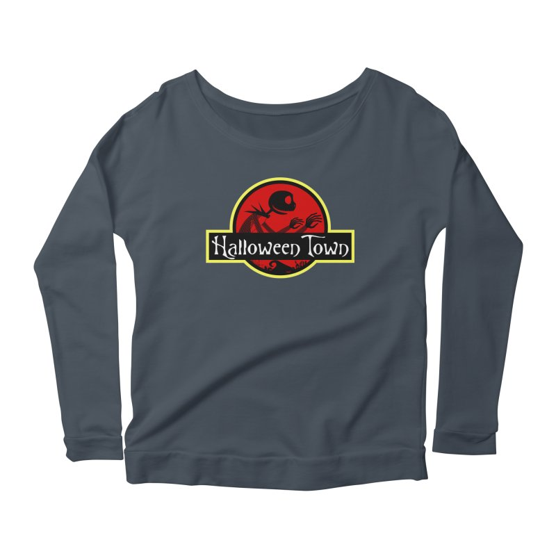 Welcome to Halloween Town Women's Longsleeve Scoopneck  by Inspired Human Artist Shop