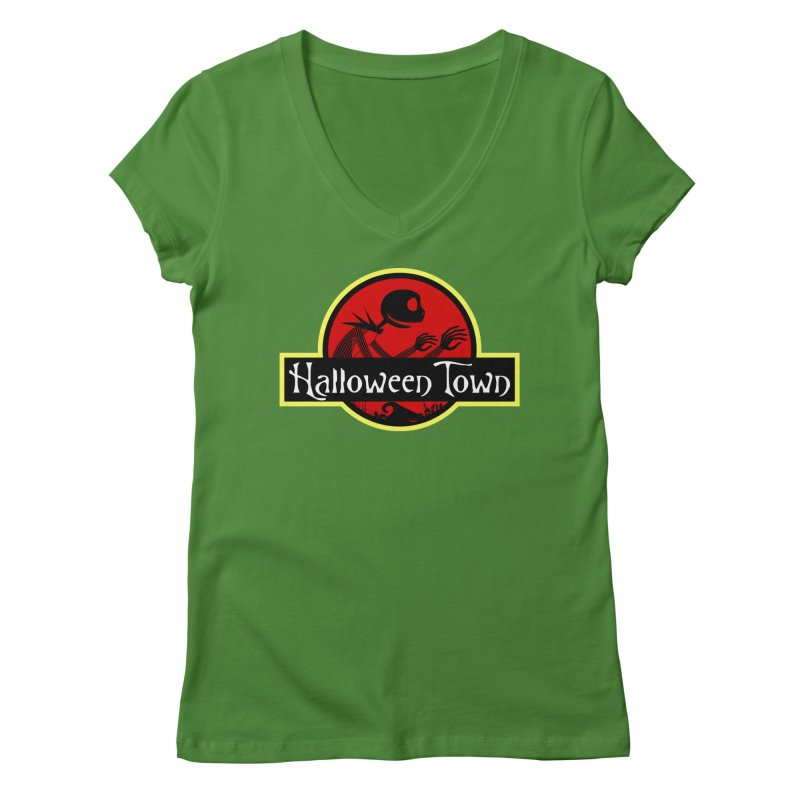 Welcome to Halloween Town Women's V-Neck by Inspired Human Artist Shop