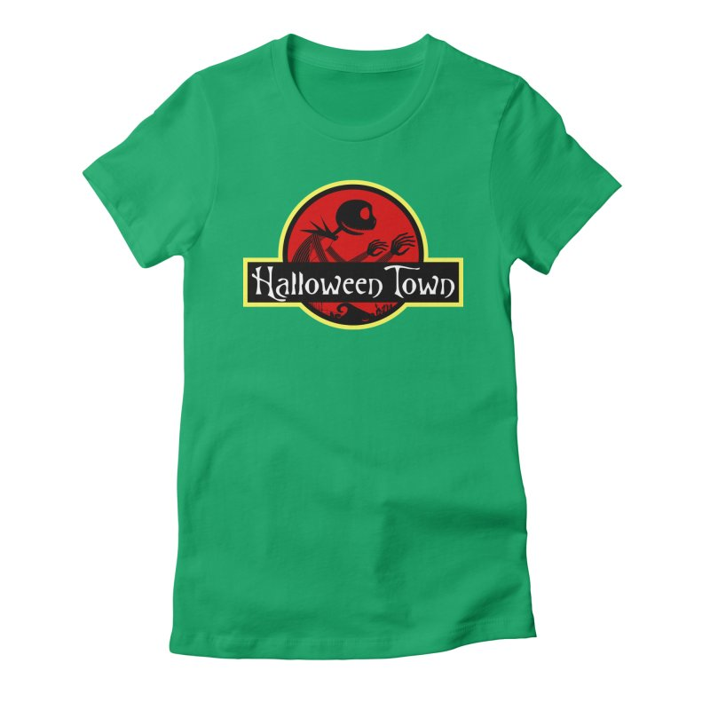 Welcome to Halloween Town Women's Fitted T-Shirt by Inspired Human Artist Shop