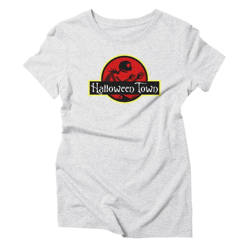 Welcome to Halloween Town Women's Triblend T-Shirt by Inspired Human Artist Shop