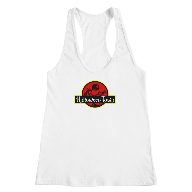 Welcome to Halloween Town Women's Racerback Tank by Inspired Human Artist Shop