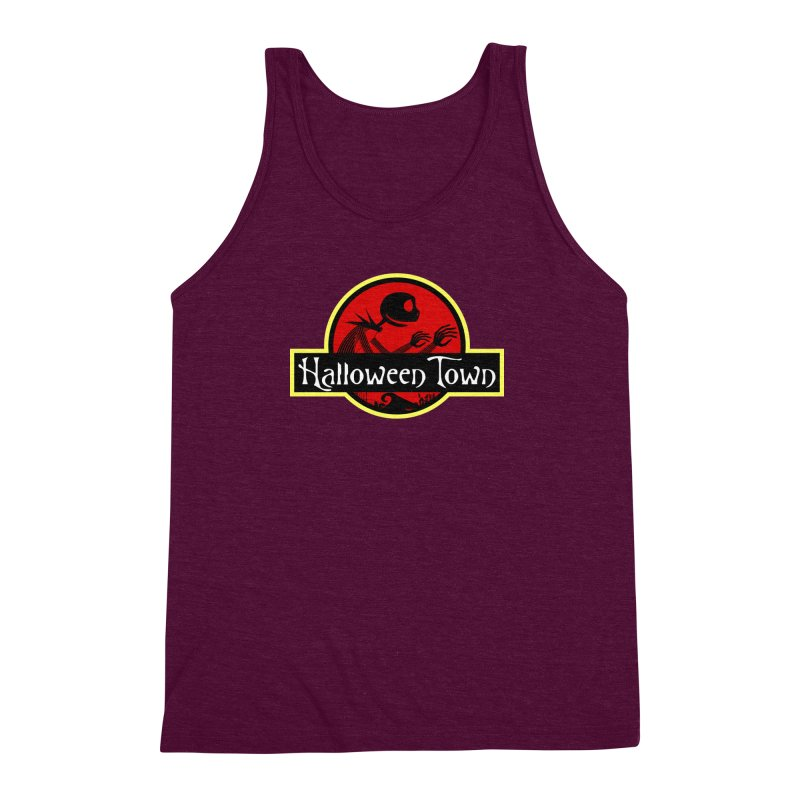 Welcome to Halloween Town Men's Triblend Tank by Inspired Human Artist Shop
