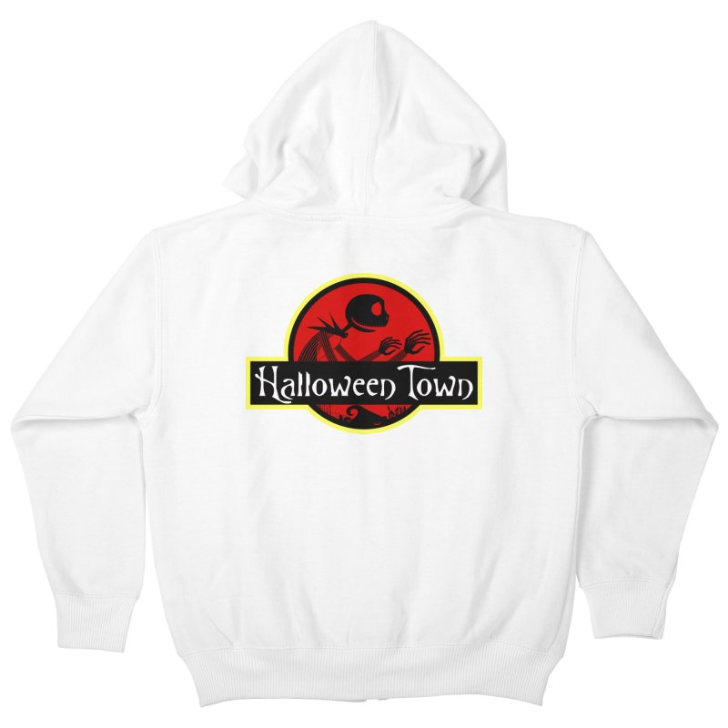 Welcome to Halloween Town Kids Zip-Up Hoody by Inspired Human Artist Shop