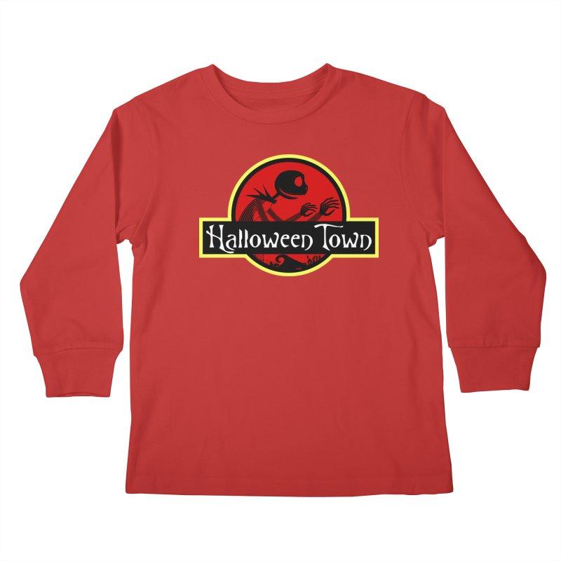 Welcome to Halloween Town Kids Longsleeve T-Shirt by Inspired Human Artist Shop