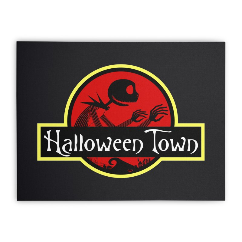 Welcome to Halloween Town Home Stretched Canvas by Inspired Human Artist Shop