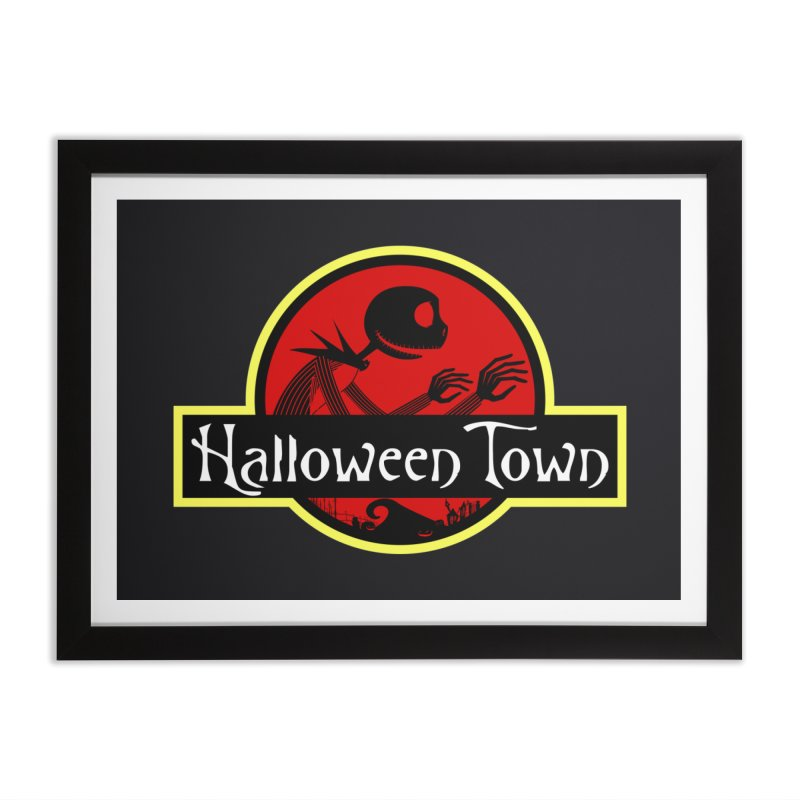 Welcome to Halloween Town Home Framed Fine Art Print by Inspired Human Artist Shop