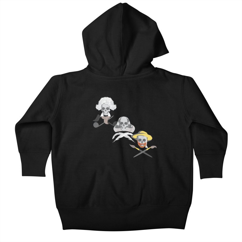 Artist Dead Kids Baby Zip-Up Hoody by Inspired Human Artist Shop