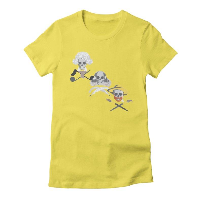 Artist Dead Women's Fitted T-Shirt by Inspired Human Artist Shop
