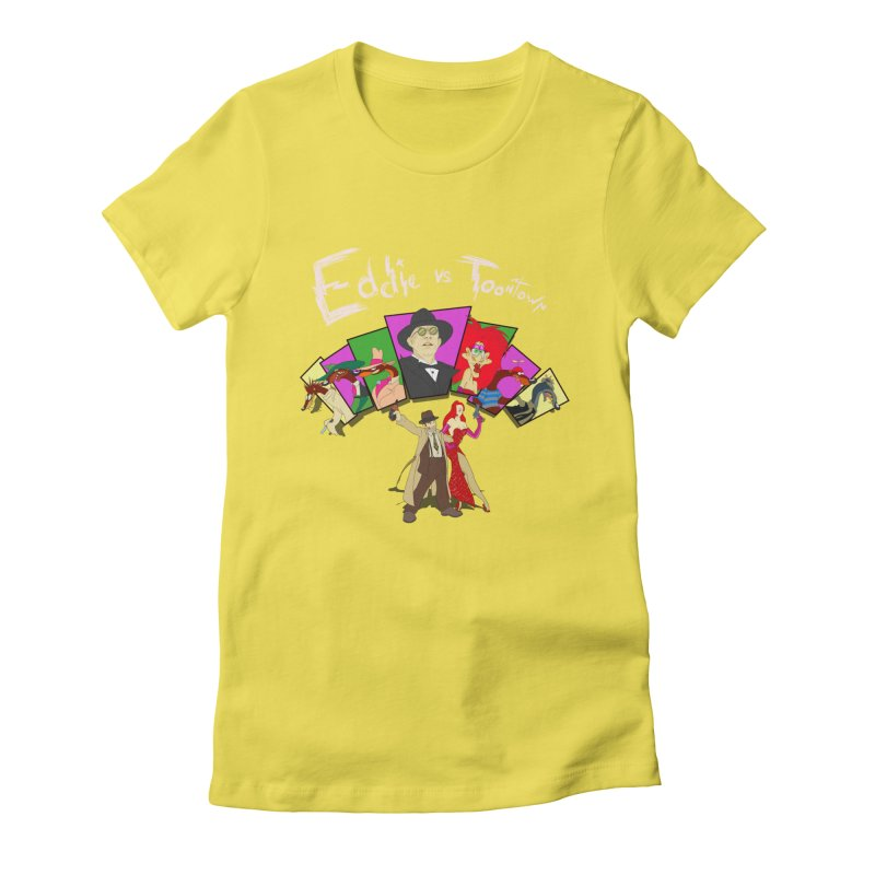 Eddie V. Women's Fitted T-Shirt by Inspired Human Artist Shop
