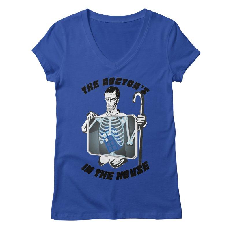 Doctor Doctor Women's V-Neck by Inspired Human Artist Shop