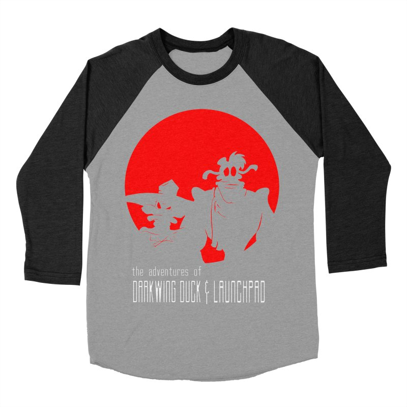 Darkwing & Launchpad Men's Baseball Triblend T-Shirt by Inspired Human Artist Shop