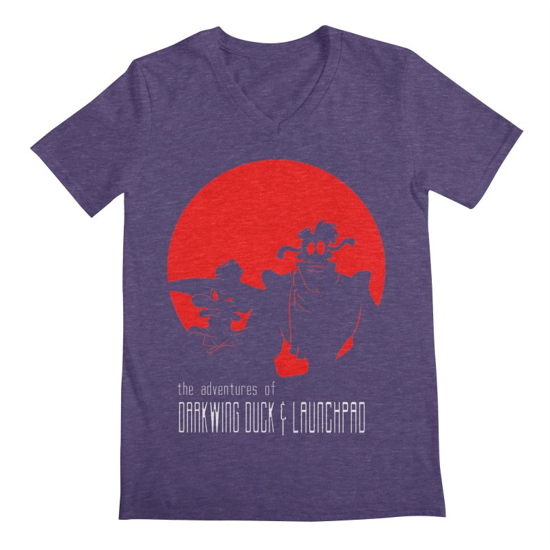 Darkwing & Launchpad Men's V-Neck by Inspired Human Artist Shop