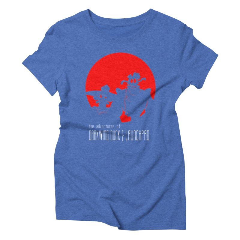Darkwing & Launchpad Women's Triblend T-shirt by Inspired Human Artist Shop
