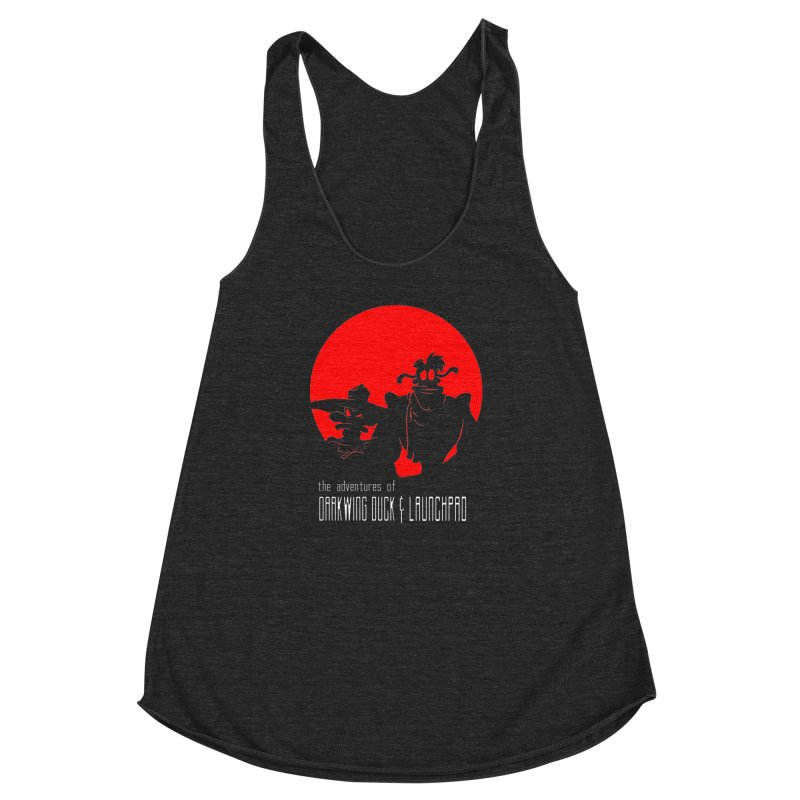 Darkwing & Launchpad Women's Racerback Triblend Tank by Inspired Human Artist Shop