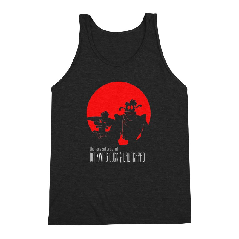 Darkwing & Launchpad Men's Triblend Tank by Inspired Human Artist Shop