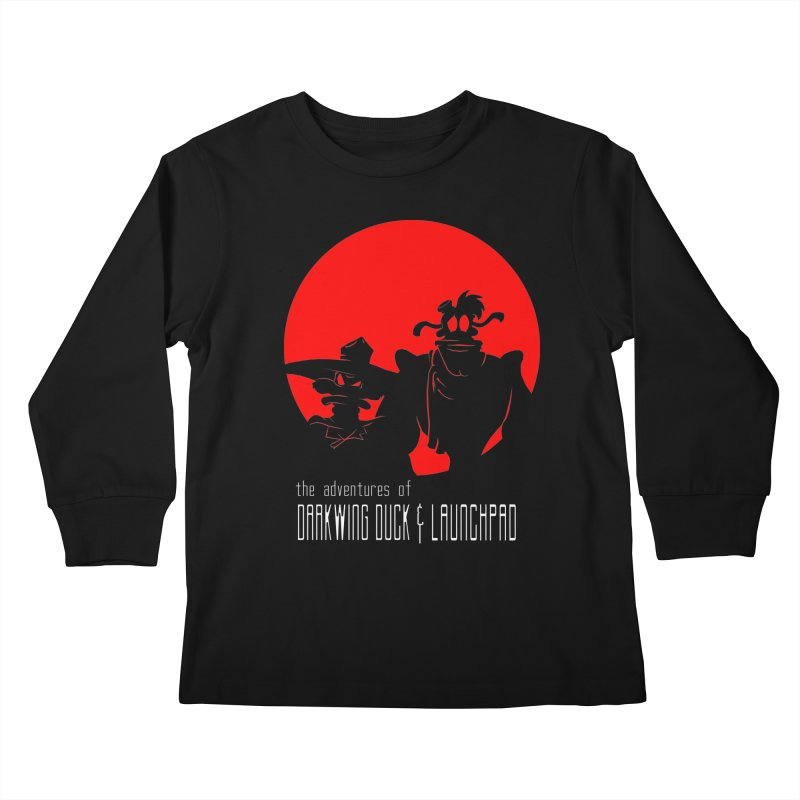 Darkwing & Launchpad Kids Longsleeve T-Shirt by Inspired Human Artist Shop