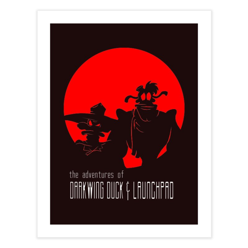 Darkwing & Launchpad Home Fine Art Print by Inspired Human Artist Shop