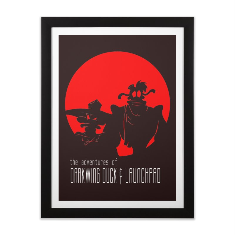 Darkwing & Launchpad Home Framed Fine Art Print by Inspired Human Artist Shop