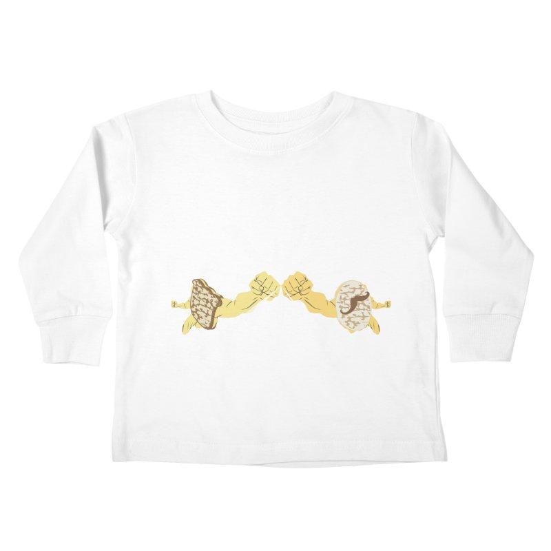 Cheesy Kids Toddler Longsleeve T-Shirt by Inspired Human Artist Shop