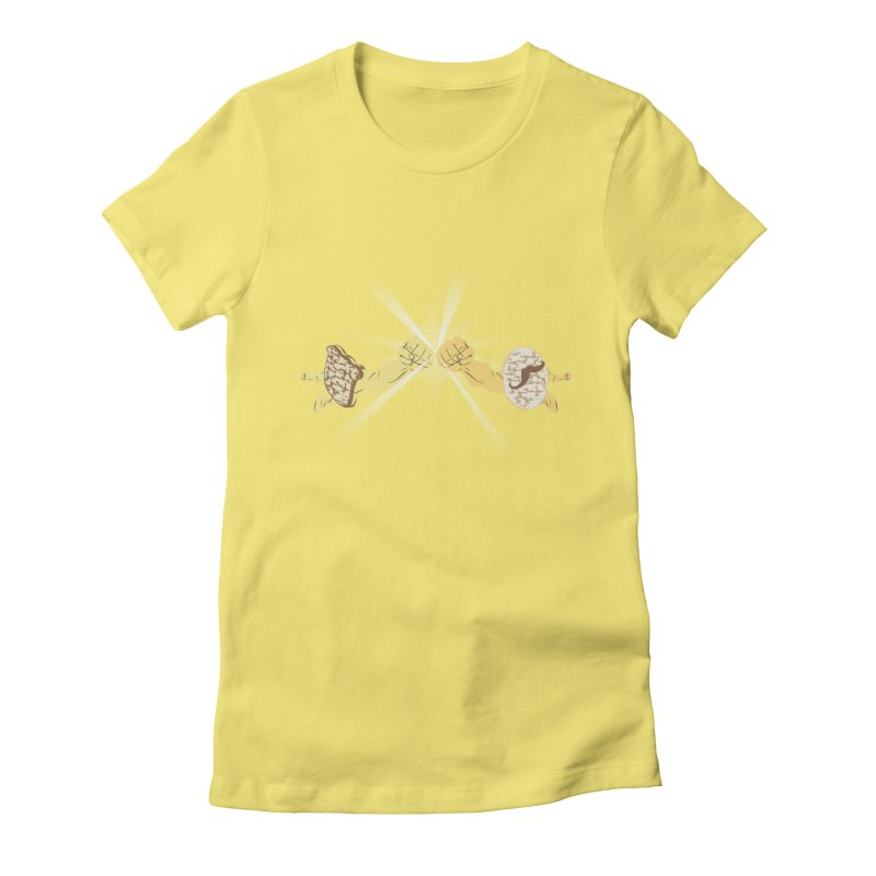 Cheesy Women's Fitted T-Shirt by Inspired Human Artist Shop