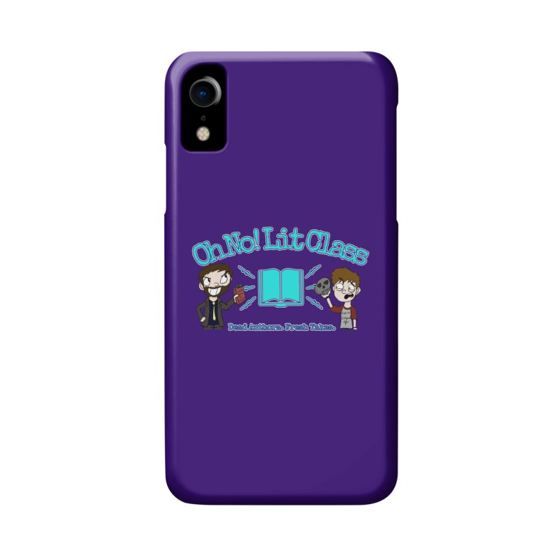 Megan and RJ Logo in iPhone XR Phone Case Slim by Oh No! Lit Class Store