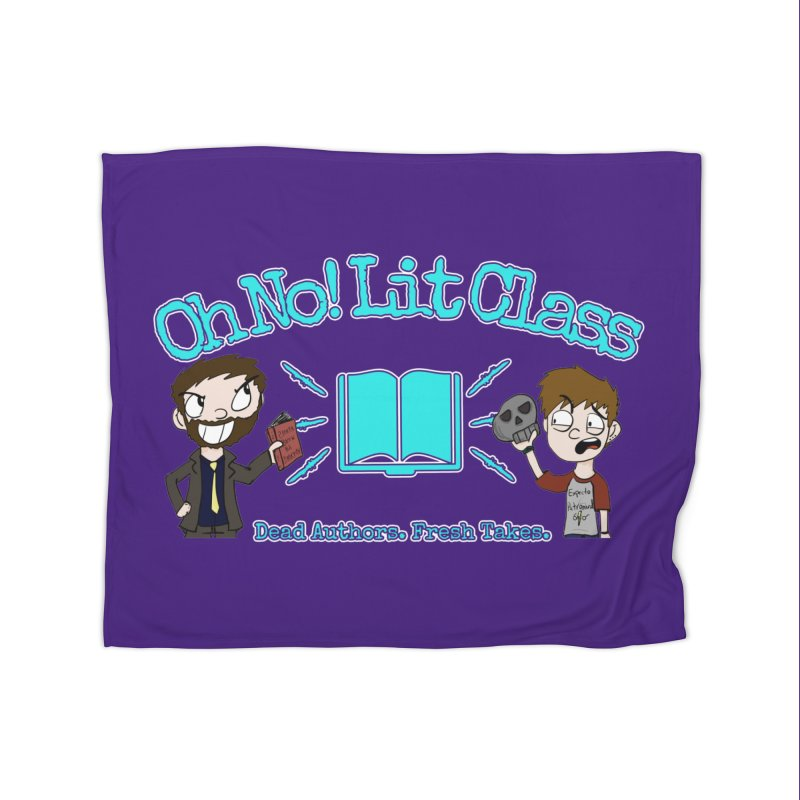 Megan and RJ Logo Home Blanket by Oh No! Lit Class Store
