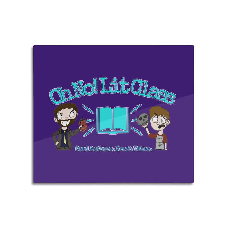 Megan and RJ Logo Home Mounted Aluminum Print by Oh No! Lit Class Store