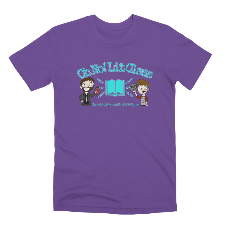 Megan and RJ Logo in Men's Premium T-Shirt Purple by Oh No! Lit Class Store