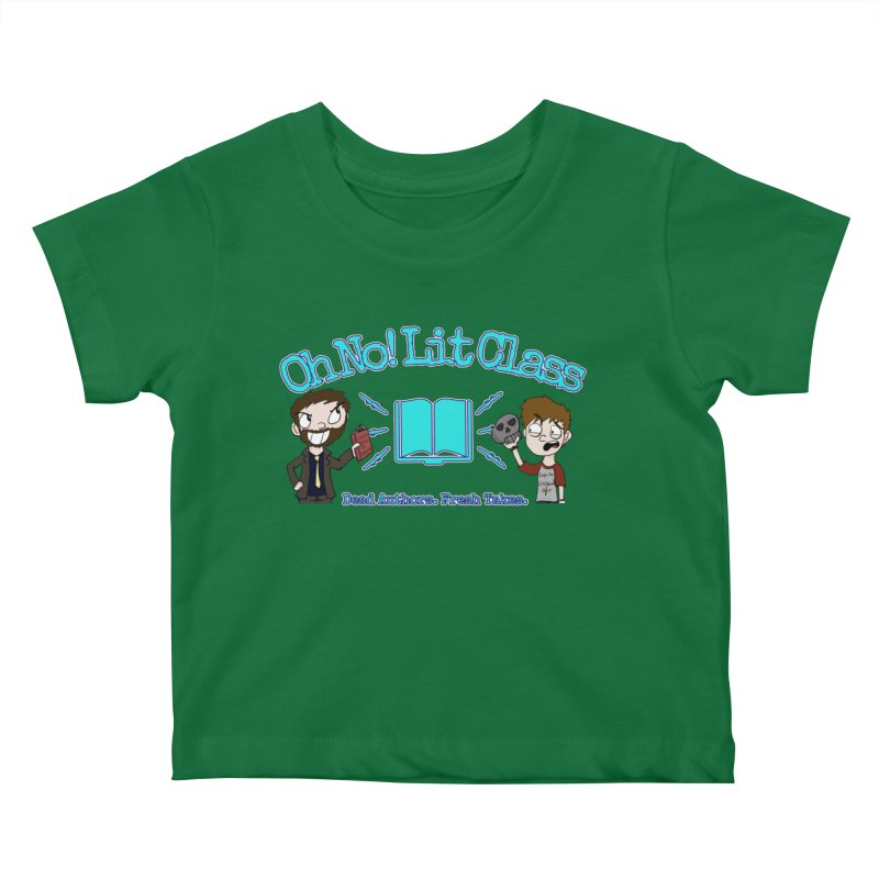 Megan and RJ Logo Kids Baby T-Shirt by Oh No! Lit Class Store