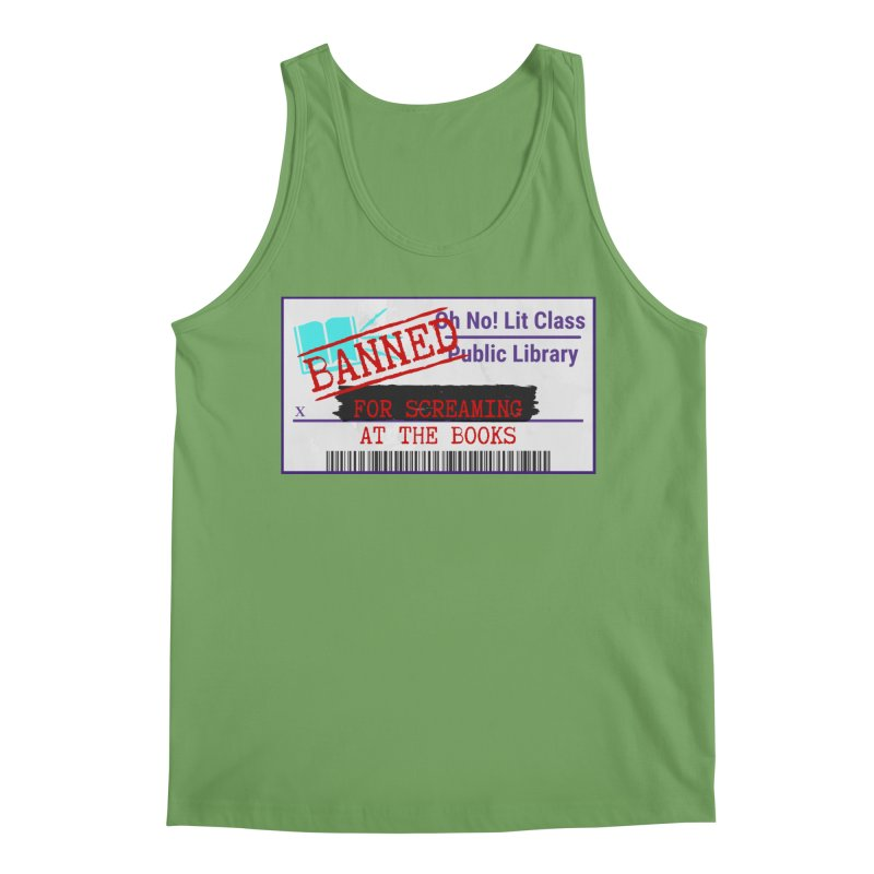 BANNED FOR LIFE Men's Tank by Oh No! Lit Class Store