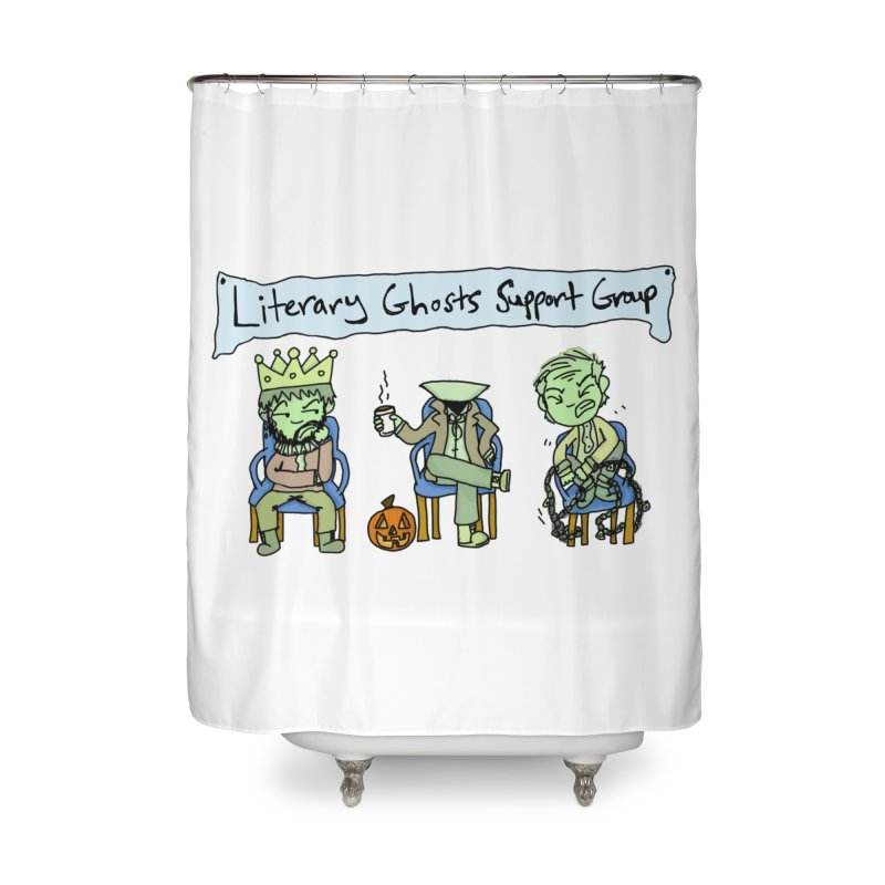 Ghostly Group Home Shower Curtain by Oh No! Lit Class Store