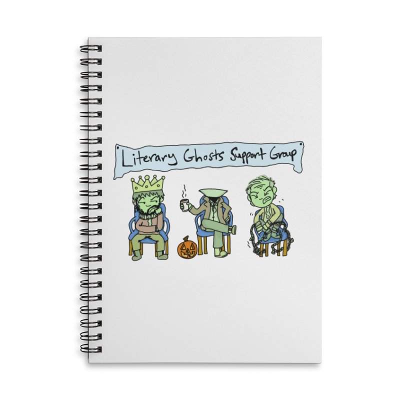 Ghostly Group in Lined Spiral Notebook by Oh No! Lit Class Store