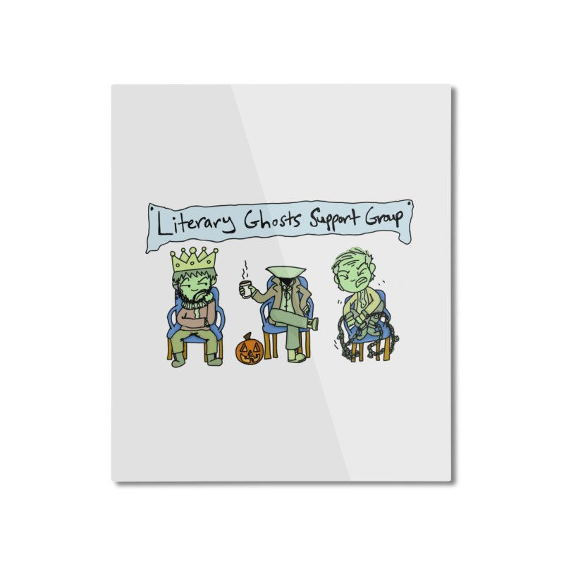 Ghostly Group Home Mounted Aluminum Print by Oh No! Lit Class Store