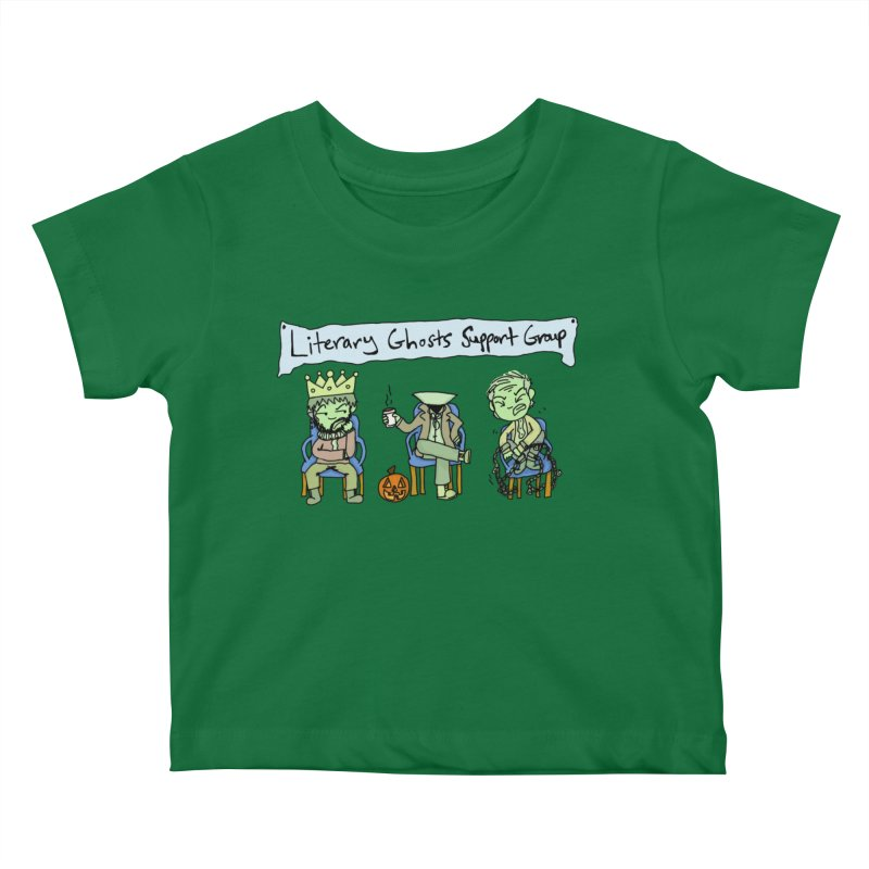 Ghostly Group Kids Baby T-Shirt by Oh No! Lit Class Store