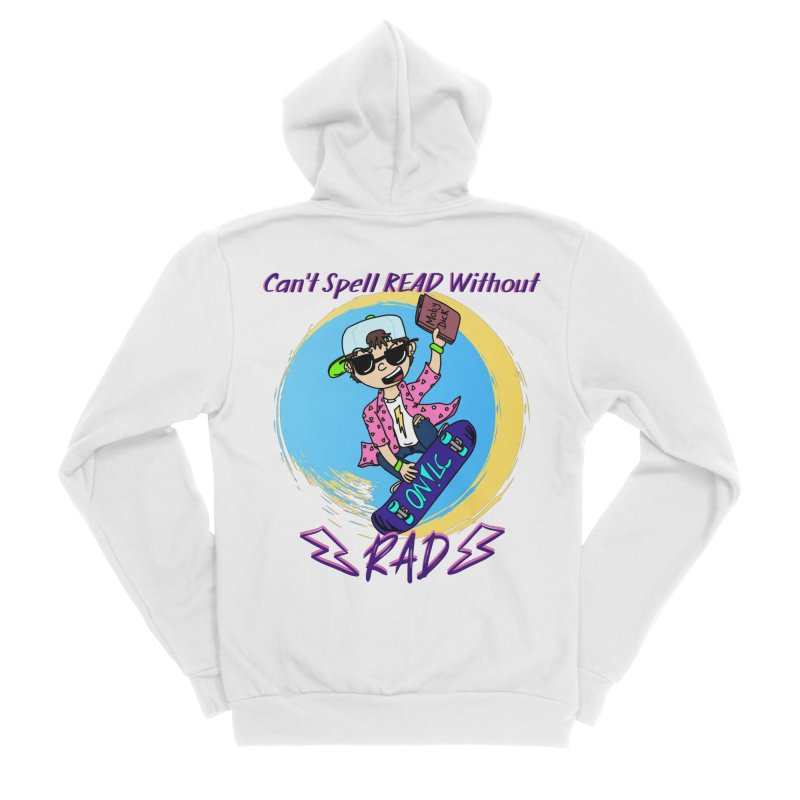 Reading is Radical! Men's Zip-Up Hoody by Oh No! Lit Class Store